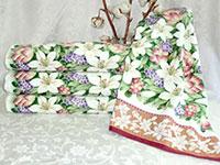Полотенце гиацинты бордовые