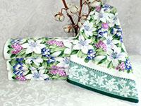 Полотенце гиацинты зеленые
