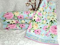 Полотенце пионы голубые